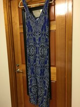 Black and blue maxi dress in Okinawa, Japan