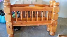 Wood twin bed frame in Lawton, Oklahoma