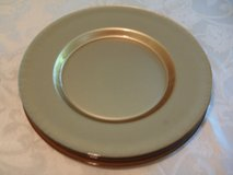 Gold Color Glass Plate Charger - SET OF FOUR in Naperville, Illinois