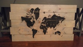 World Map Painting in Eglin AFB, Florida