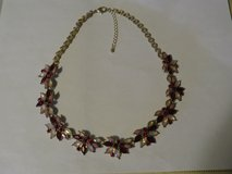 Collard Faux Ruby & MOP Necklace in Huntington Beach, California