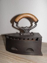 """Antique Clothes Iron at """"1900"""" in Ramstein, Germany"""