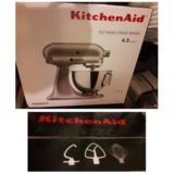 Grey/silver Kitchen aid mixer Brand new in Riverside, California