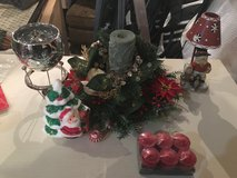 Christmas candle lot in Morris, Illinois