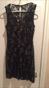 Party dress size 6 women's black and gold in Houston, Texas