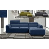 NEW! CONTEMPORARY STYLING SOFA CHAISE SECTIONAL IN ELECTRIC BLUE SUEDE! in Vista, California