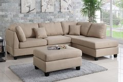 NEW! URBAN SOFA CHAISE SECTIONAL WITH OTTOMAN!! in Camp Pendleton, California