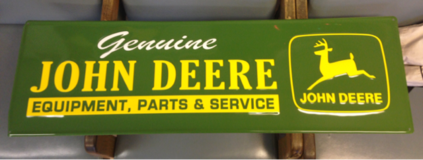 "John Deere Metal Sign 13""x42"" in DeRidder, Louisiana"