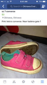 Girls converse size 7 in Okinawa, Japan