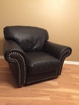 Traditional Leather Chair with Nail Head Trim ~Dark Brown in Shorewood, Illinois