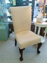 Nice Suede & Wood Accent Chair (1754-504) in Camp Lejeune, North Carolina