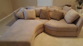 Microfiber sectional with chaise lounge in Camp Lejeune, North Carolina
