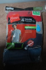 HANES TAGLESS POCKET T SHIRTS BRAND NEW 4 PACK SIZE XL in Bolingbrook, Illinois