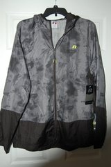 Russell Hooded Lightweight Packable Jacket. It fits into the pocket! Size L 42-44  NEW WITH TAGS in Bolingbrook, Illinois
