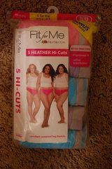 Size 13. 6 Pairs of Heather Hi-Cuts WOMENS PANTIES UNDERWEAR NEW IN PACKAGE in Naperville, Illinois
