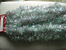 silver iridescent garland in Ramstein, Germany