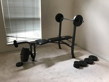 Weight bench with weights in Eglin AFB, Florida