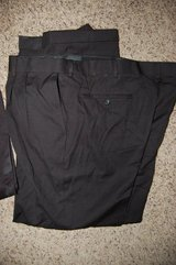Dress pants Men  Size 38 x 32 Polyester and rayon blend Black BRAND NEW in Bolingbrook, Illinois