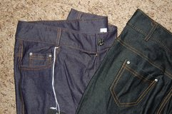 Large fits like 4-6-8 I have 2 BLACK and 1 Navy. With tags. Skinny jeans Super soft Has rhinston... in Bolingbrook, Illinois