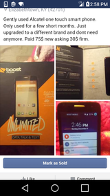 Like new boost mobile smart phone in Fort Knox, Kentucky