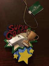 NEW with Tags ~ Super Coach Christmas Ornament by Kurt S Adler Personalize It in Batavia, Illinois