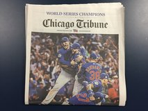 Cubs win! Chicago Tribune 11/3 edition. in Joliet, Illinois