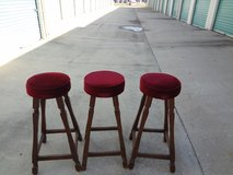 bar stools used gently three in set in Perry, Georgia
