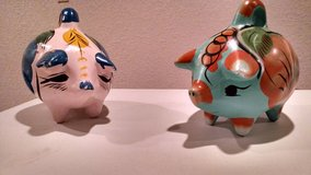 2 Hand-Painted, Ceramic Piggy Banks in Joliet, Illinois