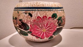 Heavy, Hand-Painted Weathered Flower Pot in Joliet, Illinois
