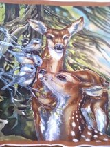 Fleece Blanket of Doe and Calf Print in Bartlett, Illinois