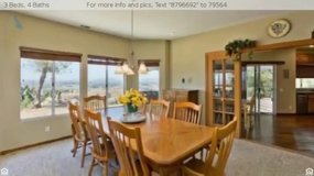 Solid Oak Dining Room Table and Chairs in Temecula, California