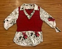 NEW Women's Red, White and Black Top. Size L. in Okinawa, Japan
