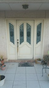 Wood front door with side lights in Alamogordo, New Mexico