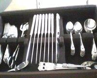 Silverplate Silverware Set with case in Great Lakes, Illinois