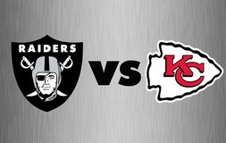 OAKLAND RAIDERS vs KANSAS CITY CHIEFS....Thursday NIGHT!!!....2 Tickets!!! in Fort Leavenworth, Kansas