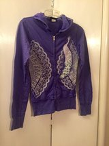 Purple peacock zip up hoodie in Roseville, California
