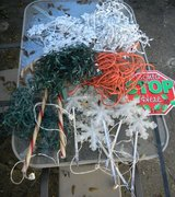 Misc. Christmas Light Lot Some Not Working Snowflakes Garland Lights Santa Stop Yard Sign + in Kingwood, Texas