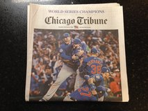 Chicago Cubs Champions Chicago Tribune 11/3 World Series Champs full newspaper in Naperville, Illinois