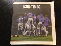 Chicago Cubs World Series Champions Chicago Sun Times 11/2 full newspaper in Naperville, Illinois