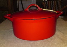GIADA DE LAURENTIS HEAVY PORCELAIN OVER CAST IRON DUTCH OVEN EXCELLENT in Camp Lejeune, North Carolina