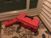 Red Plastic Tool Boxes in Lockport, Illinois