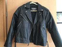 Women's Black Leather Jacket with belt (high quality) in Ramstein, Germany