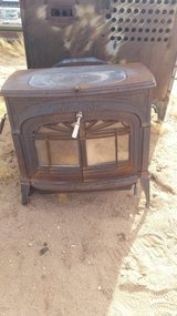 Old wood burner. in Yucca Valley, California