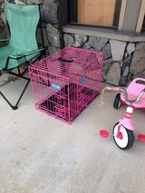 Pink Medium Size Kennel Crate 2 Openings in Fort Polk, Louisiana