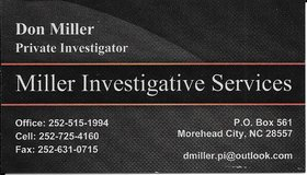 Private Investigator in Cherry Point, North Carolina