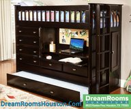 Solid Wood All In One Loft Bed - Dream Rooms Furniture! in Pasadena, Texas