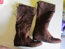 Tall Brown Lace-up Boots sz 7 in Beaufort, South Carolina
