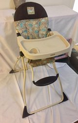 High chair, foldable for easy travel or storage in Fairfield, California