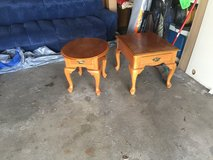 Two end tables in Chicago, Illinois