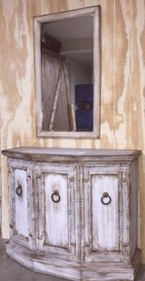 Drexel Hall Table Weathered Mirror Console Furniture in Fort Campbell, Kentucky